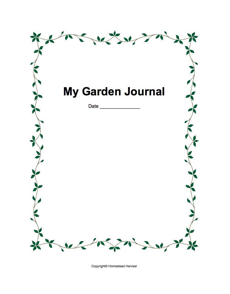 Garden Journal free printable download pdf gardening