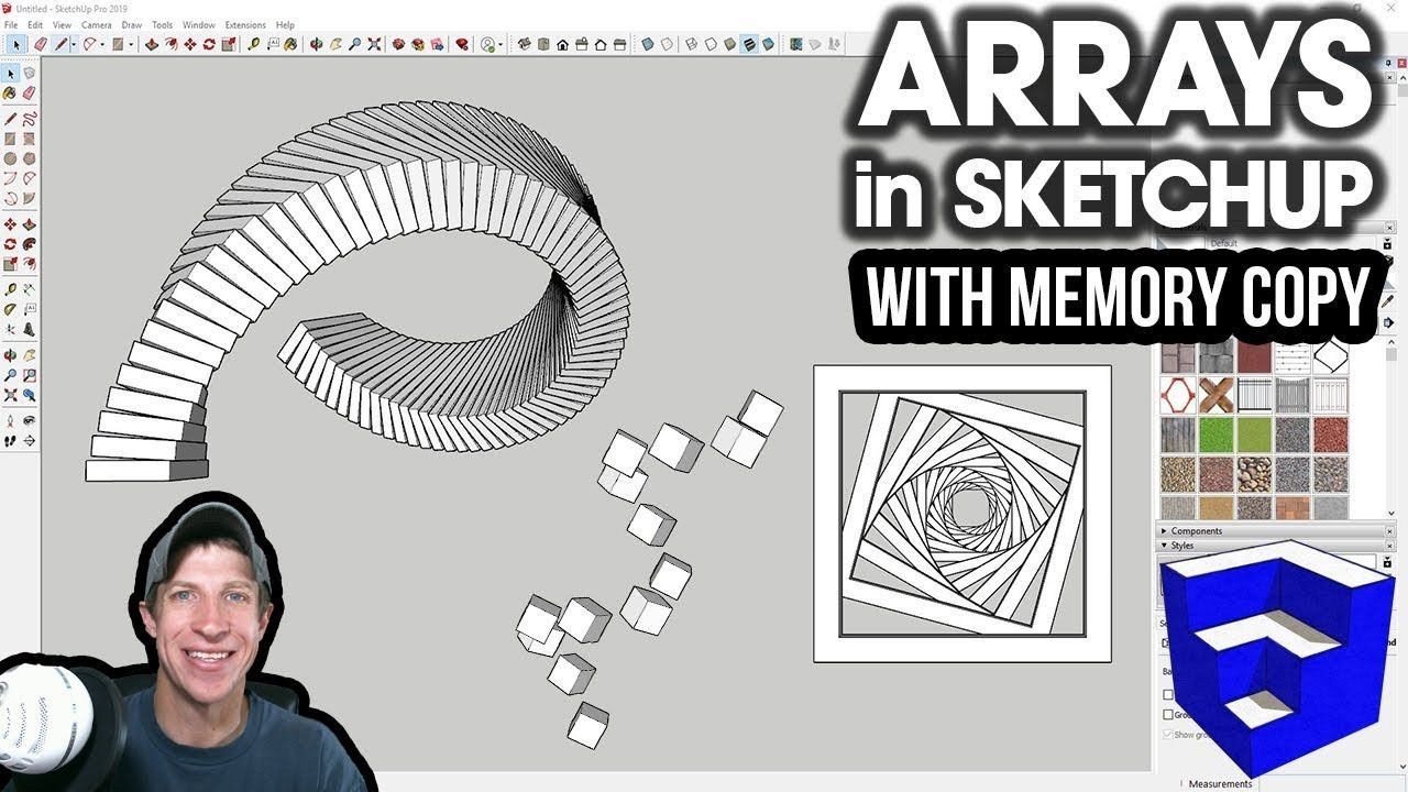 Amazing Arrays In Sketchup With Memory Copy Memories Amazing