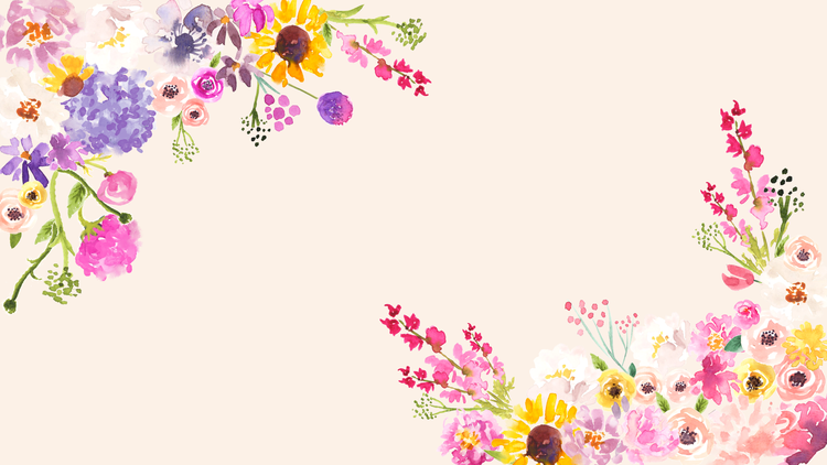 Free Cute Spring Phone Desktop And Zoom Backgrounds Love And Specs In 2020 Spring Wallpaper Happy Floral Phone Wallpaper Design