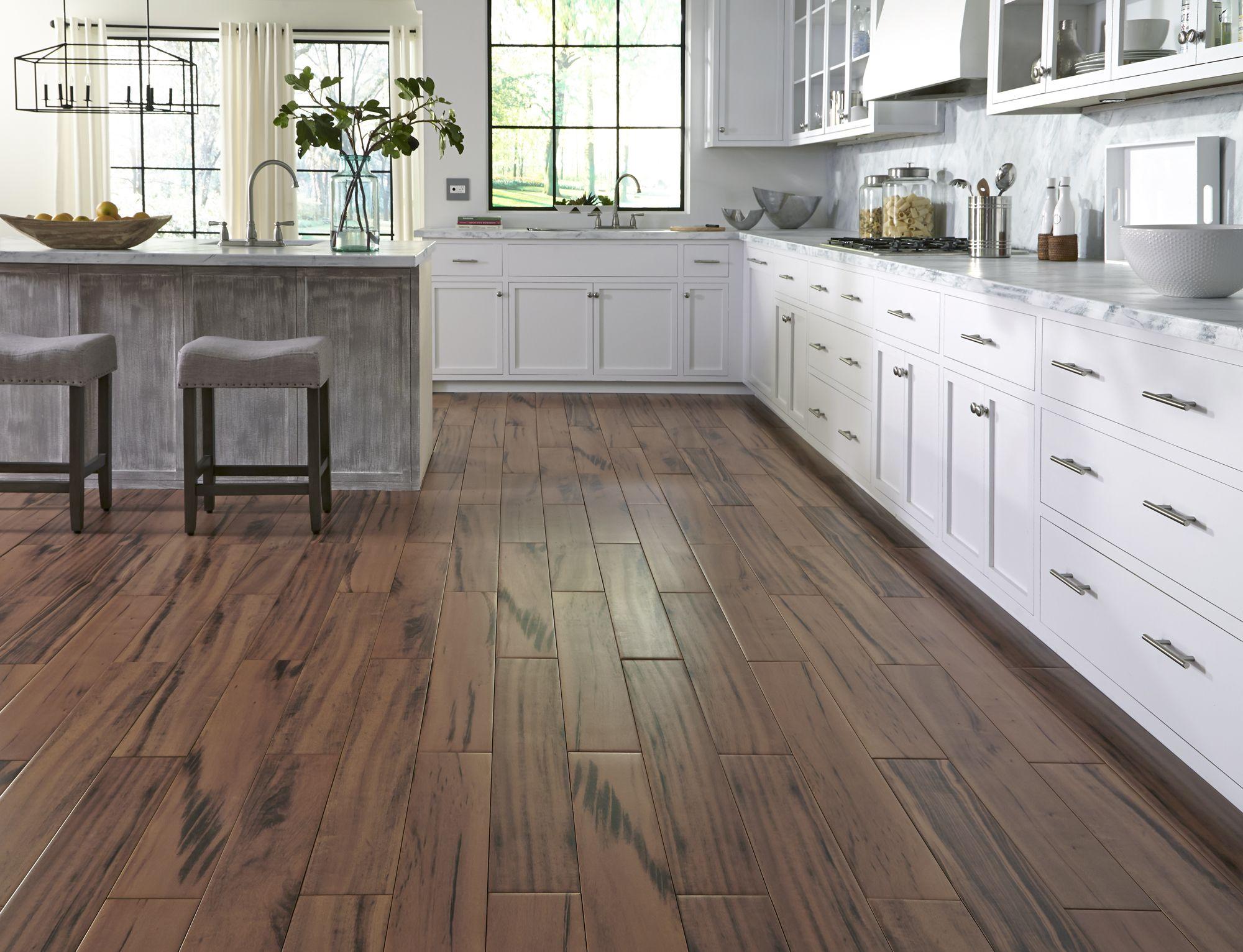 faux wood tiles kitchen flooring