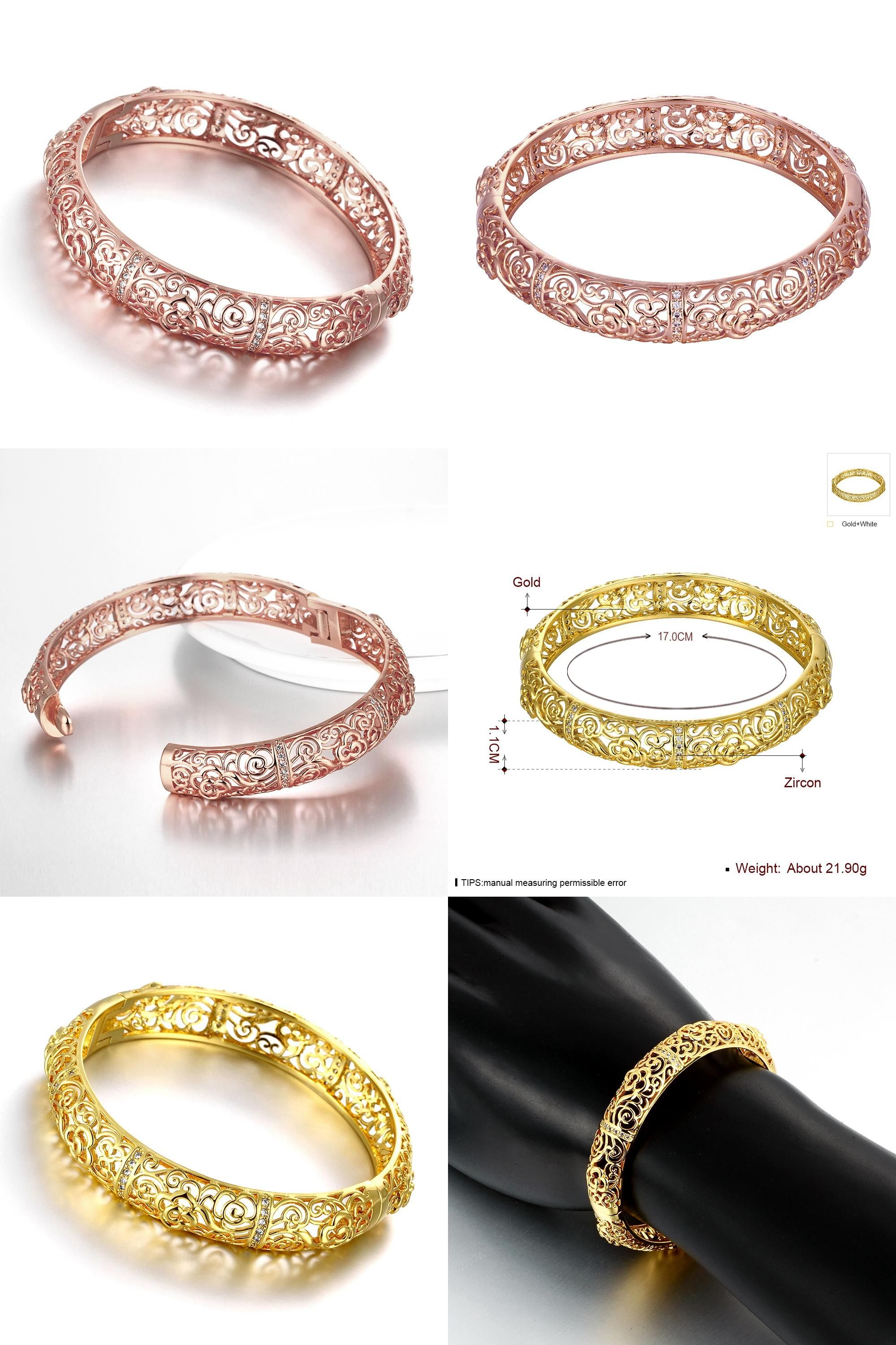 hollow bangles rose to women s flower visit charms out buy colour gold charm pin bracelets