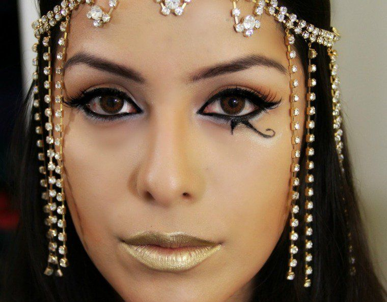 Propositions originales de maquillage halloween simple maquillage facile exemple et d guisements - Maquillage des yeux simple et facile ...