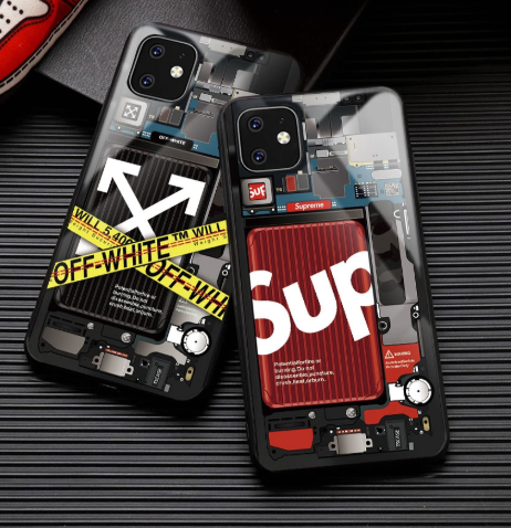 Supreme Style Tempered Glass Designer Iphone Case For Iphone 11 Pro Max X Xs Xs Max Xr 7 8 Plus Casememe Iphone Case Design Iphone Cases Iphone Case Covers