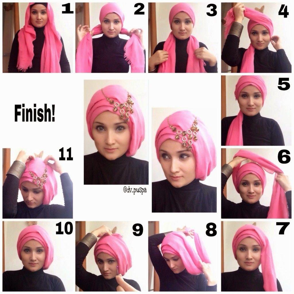 Modern Hijab Styles Tutorial Hijab Style Tutorial Hijab Styles For Party Tutorial Hijab Wisuda