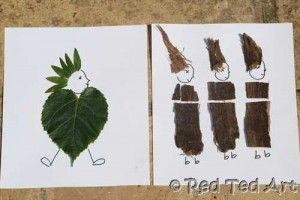 Woodland People - collect some leaves, bark, sticks... get home and get crafty!