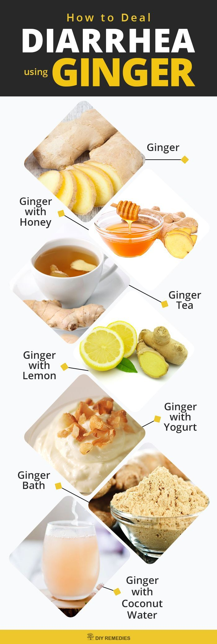 diarrhea remedy using ginger. ginger not only effectively used to