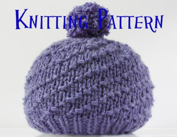 Etsy: PDF Knitting Pattern - Spiral Bobble Hat, Baby ...