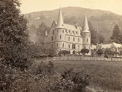 G W Wilson Aberdeen Scotland Stereoview The Trossachs Hotel N Bank Loch Achray
