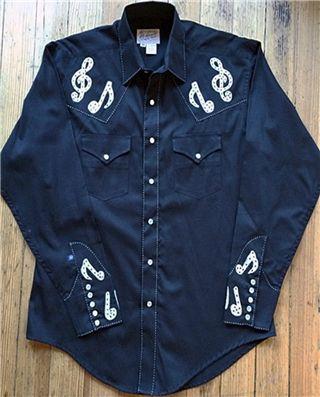 7e47285e06d Musical Notes Embroidery Cotton Gab Western Shirt   Western Shirts ...