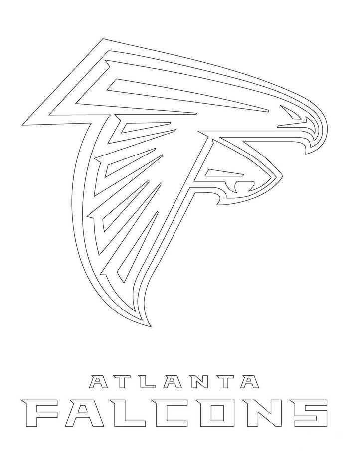Nfl Logo Coloring Pages Printable Atlanta Falcons Falcon Logo