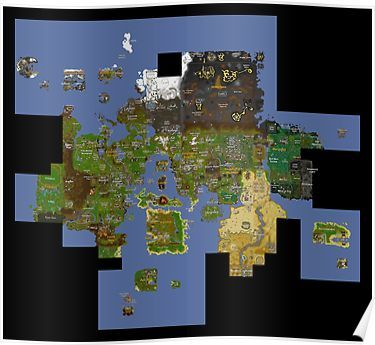 Runescape map\' Poster by Thomashahaxd | Products in 2019 ...