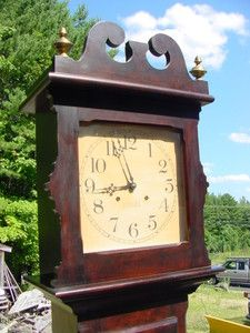 Details About Antique Ithaca Grandfather Clock Owned By