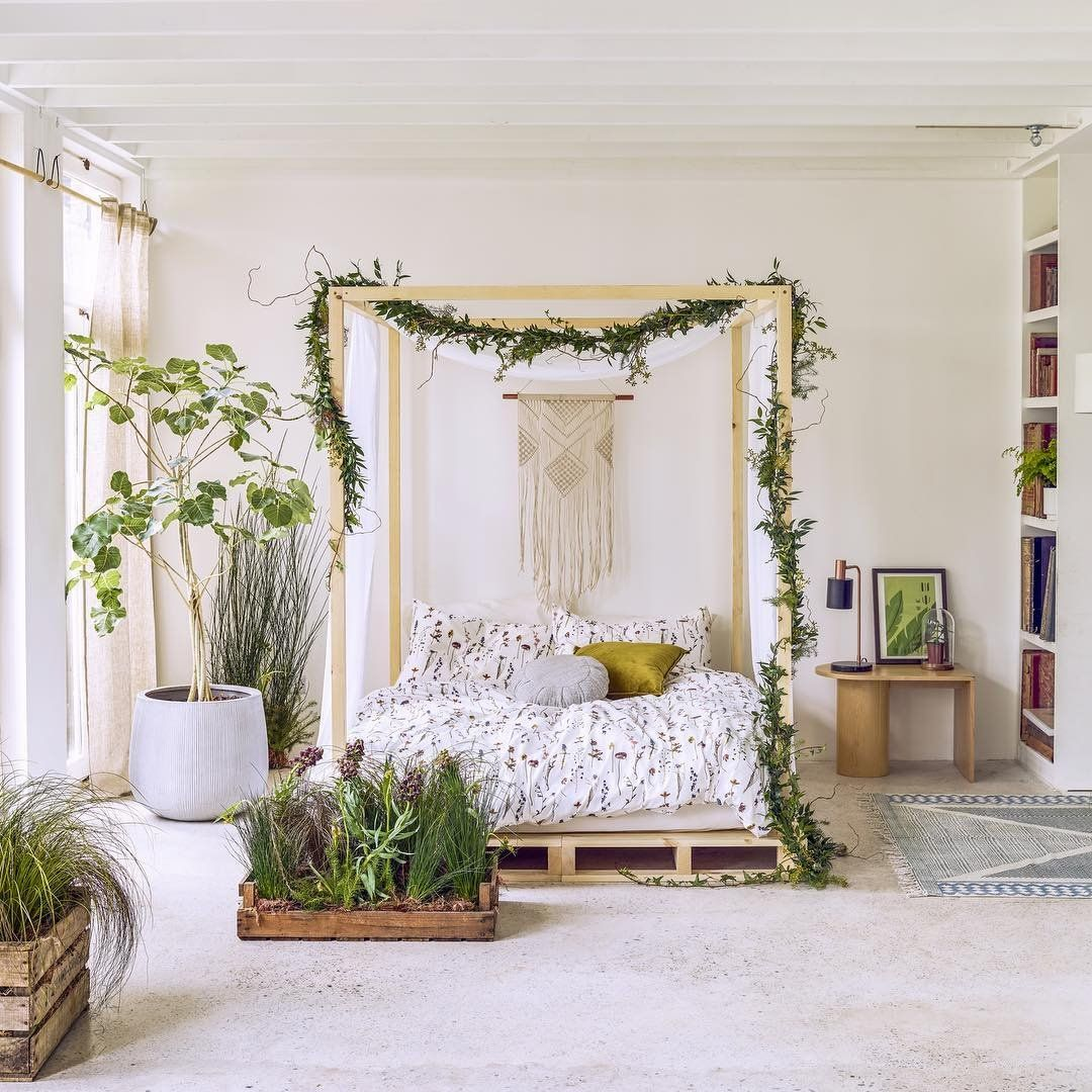This Bedroom Our Kinda Natural Habitat Natural Bedroom Home Bohemian Room Decor