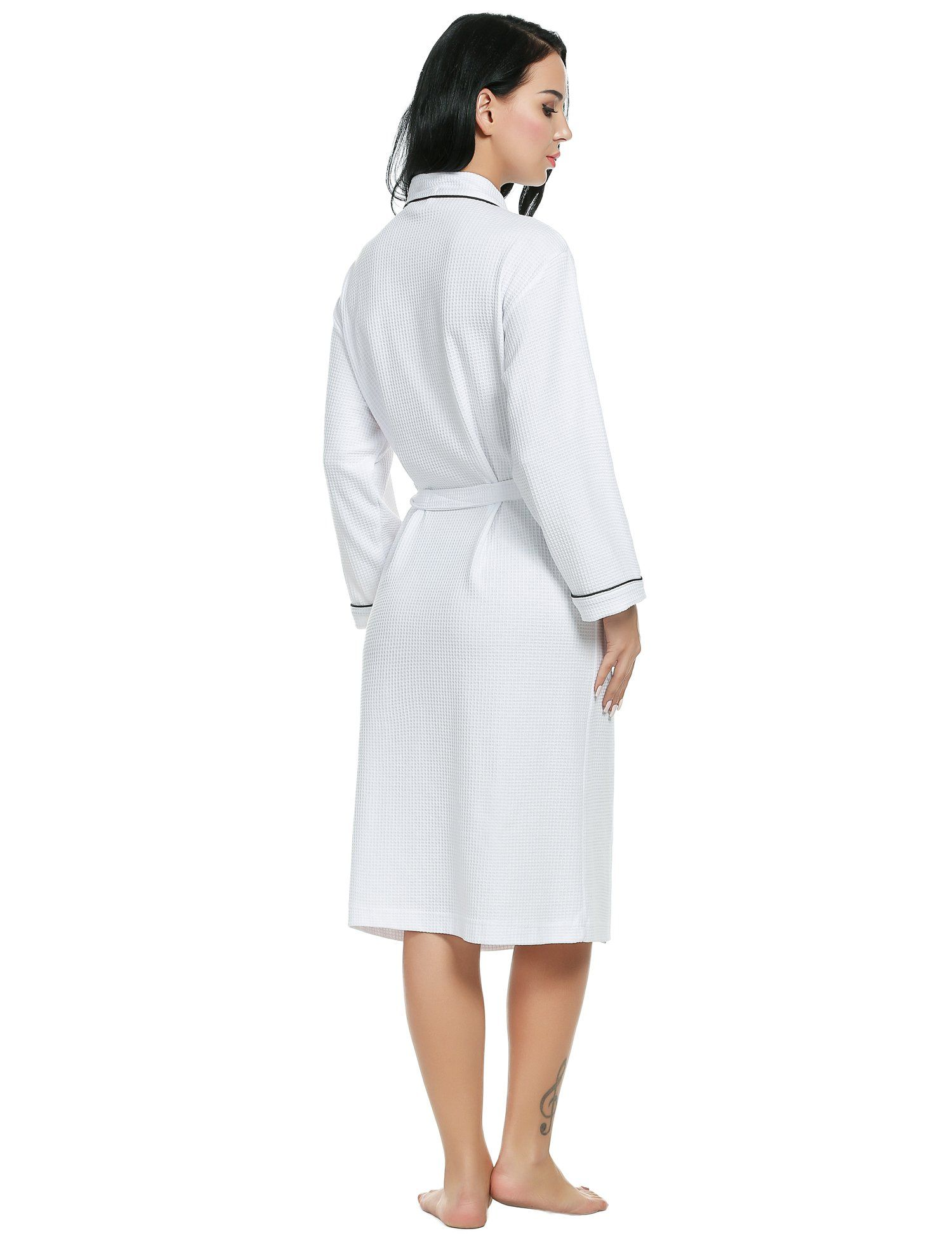 Ekouaer Robes Womens Lightweight Cotton Knit Bathrobe Bridal Lingerie White  Medium    Check this awesome 9ae824320