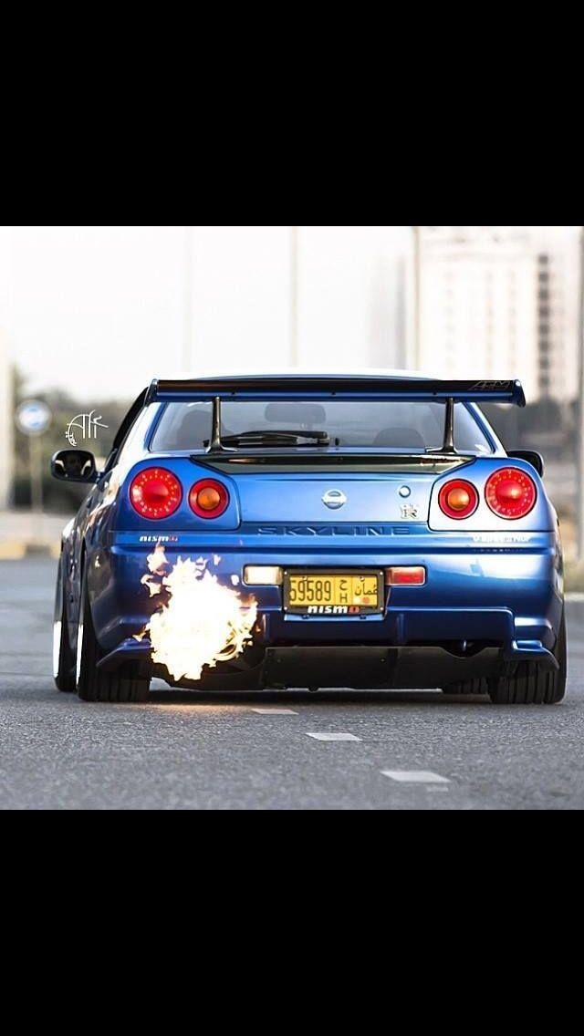 Lovely Da Ass And That Back Fire Got To Love The #GTR #SKYLINE · Import CarsNissan  Gtr R34Gt ...