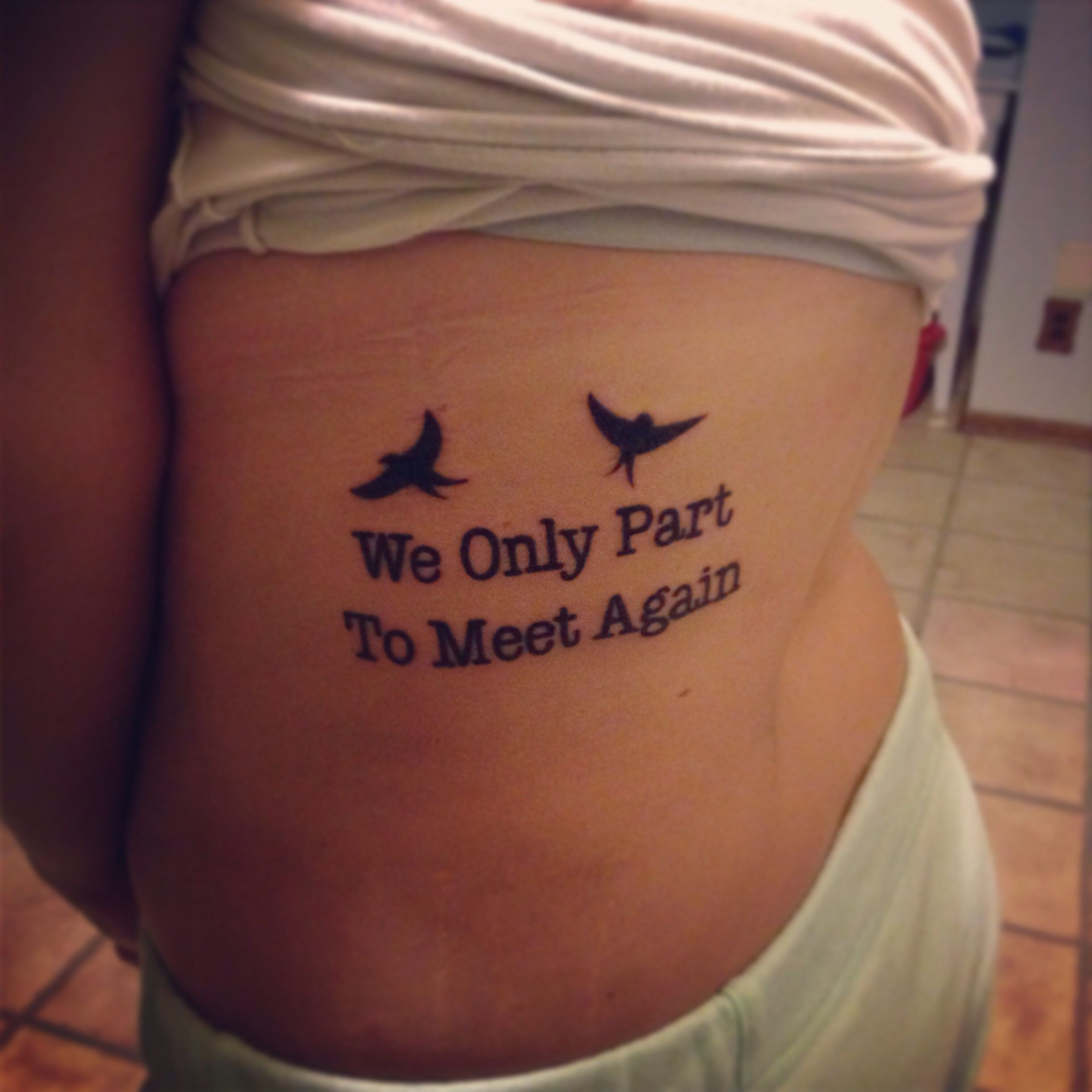 Tattoo Cursive Black Rip Birds Quote For Every: Tattoo For My Grandma ️
