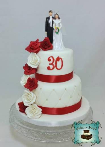 Anniversary Wedding Cake Gateau Anniversaire Mariage Www