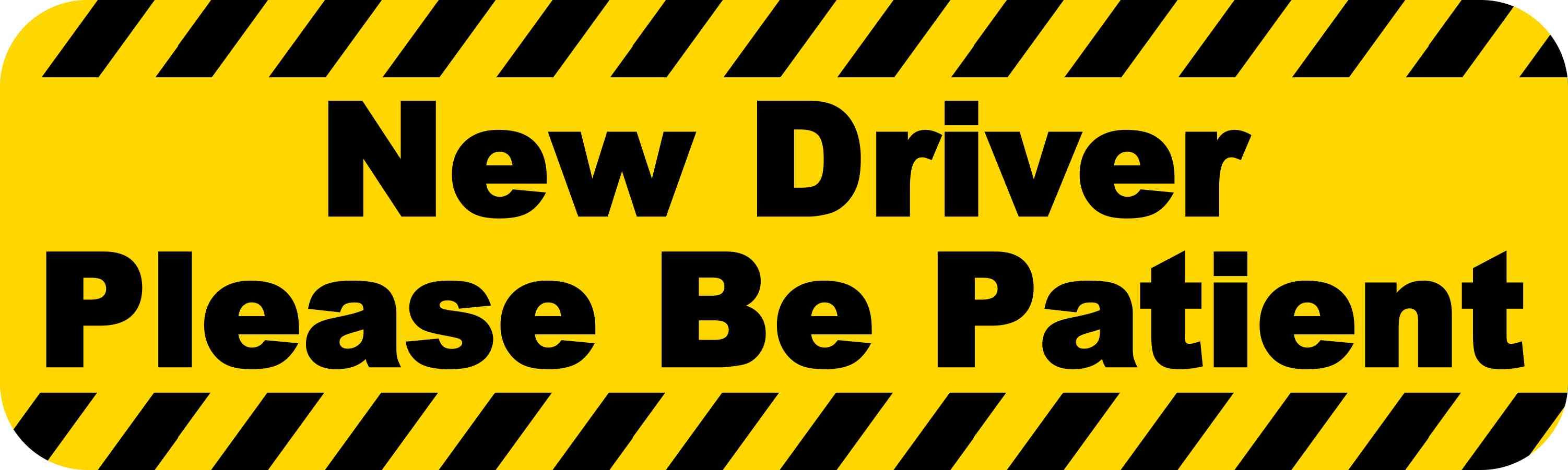 20in X 6in Large New Driver Sticker Vinyl Vehicle Window Decal Stickers New Drivers Magnetic Car Signs Vinyl Car Stickers [ 901 x 3003 Pixel ]