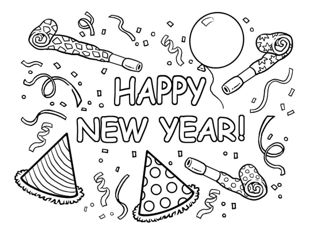 Happy New Year Coloring Pages Best Coloring Pages For Kids Malvorlagen Fur Kinder Basteln Silvester Weihnachtsmalvorlagen