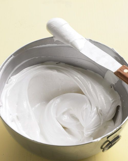 Whipped Frosting: 3 large egg whites, 3/4 cup sugar, pinch of salt, 1/3 cup water, 1/4 tsp. vanilla extract= a whole lotta yummyness.