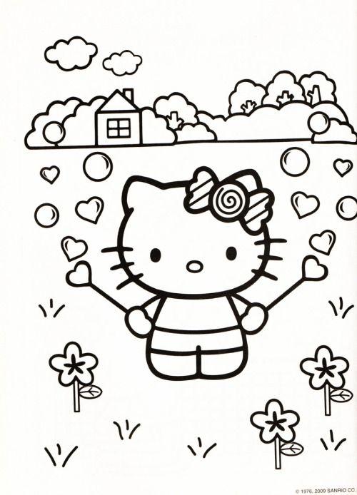 Kleurplaat Hello Kitty Hello Kitty Coloring Hello Kitty Colouring Pages Hello Kitty