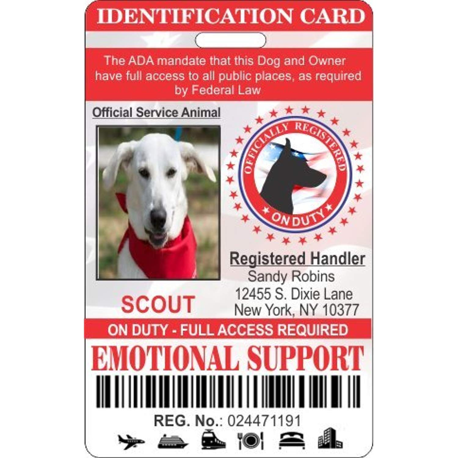 Idcards4u Emotional Support Dog Identification You Can Find Out More Details At The Link Of The I Emotional Support Dog Dog Identification Emotional Support