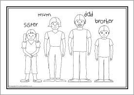 ESL families colouring sheets (SB10268) - SparkleBox ...