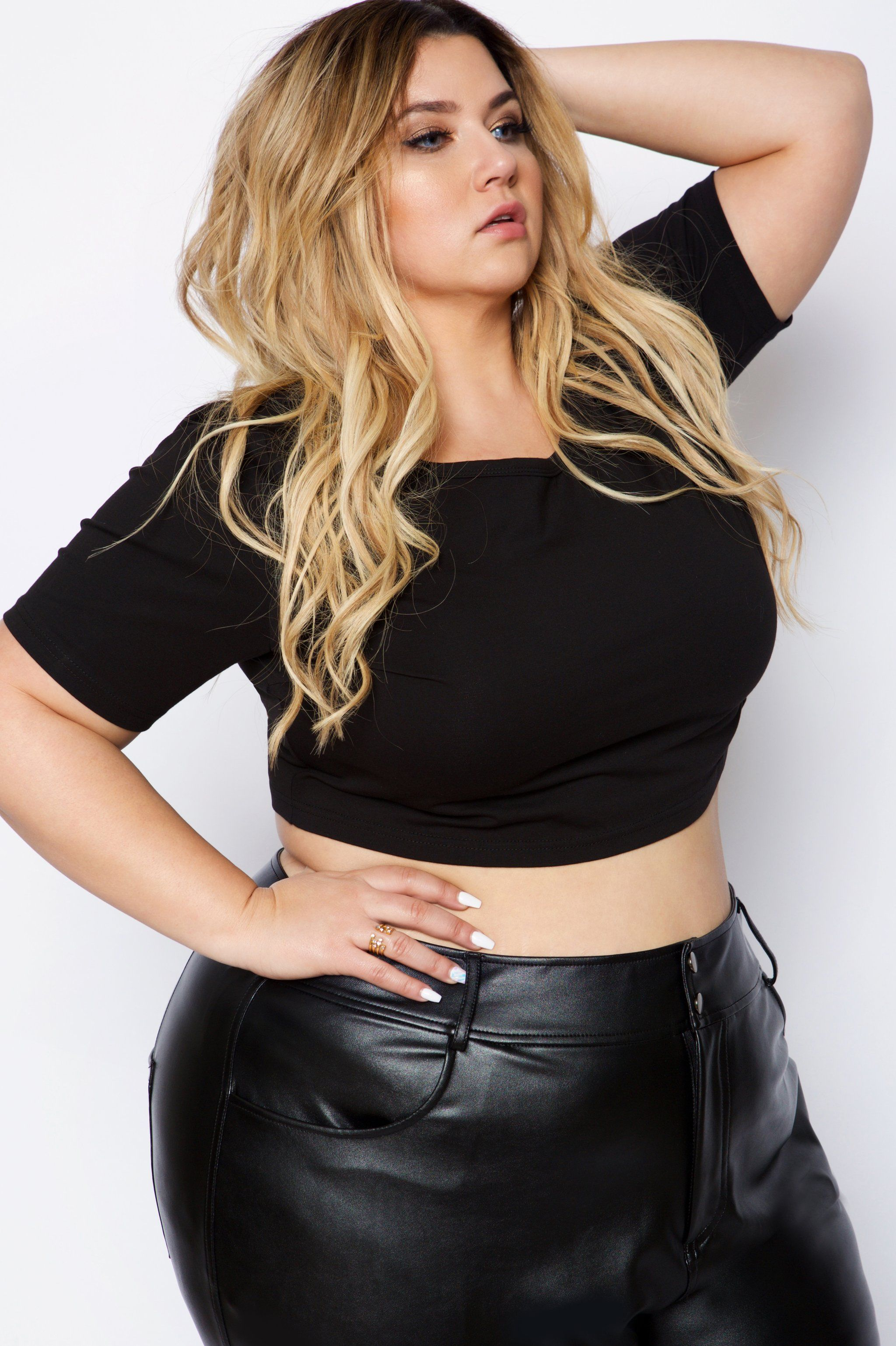 d16c7648ba034 Crystal Coons Plus Size Crop Tops