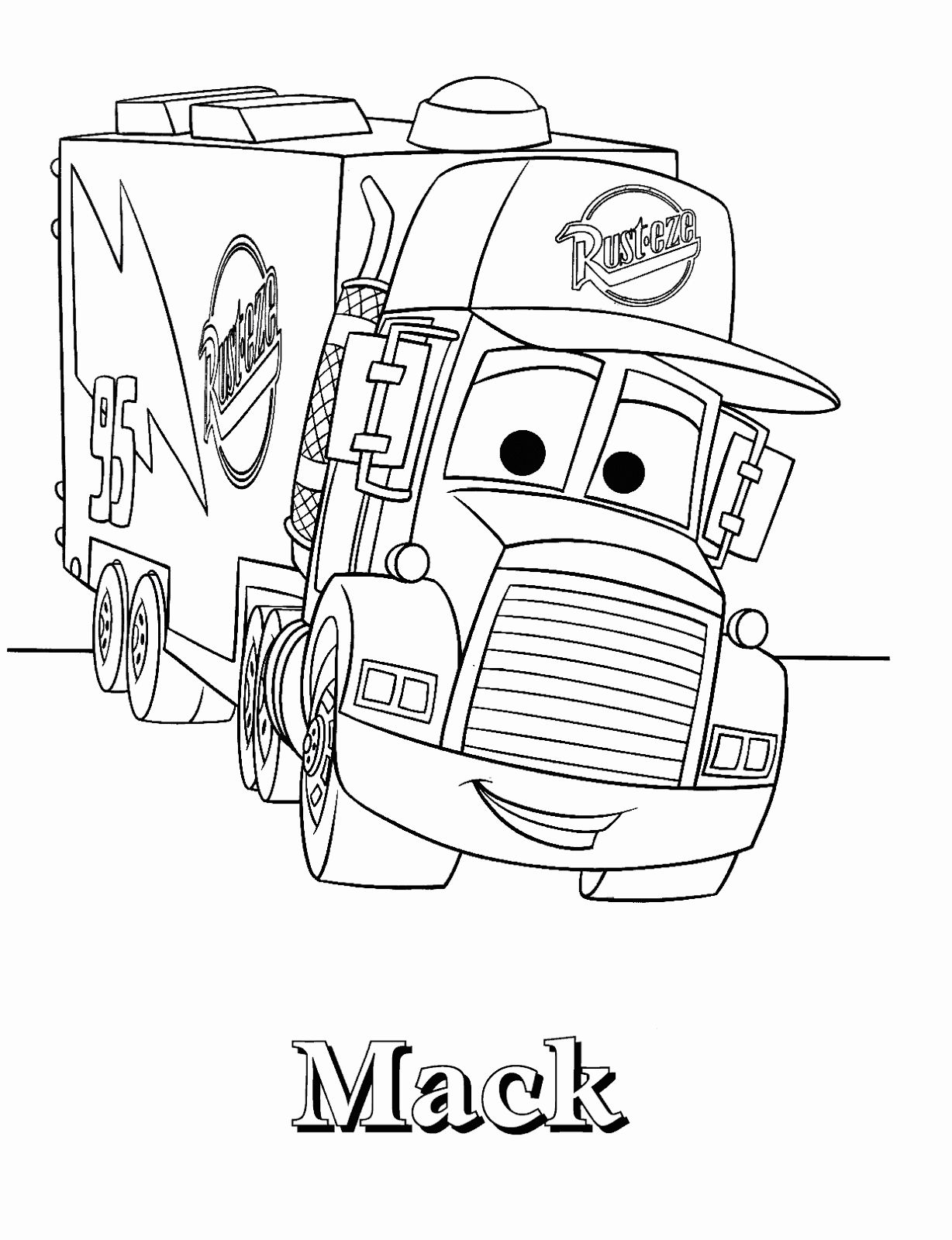 Disney Cars Coloring Page Fresh Fun Learn Free Worksheets For Kid Lightning Mcqueen Cars Coloring Pages Disney Coloring Pages Truck Coloring Pages