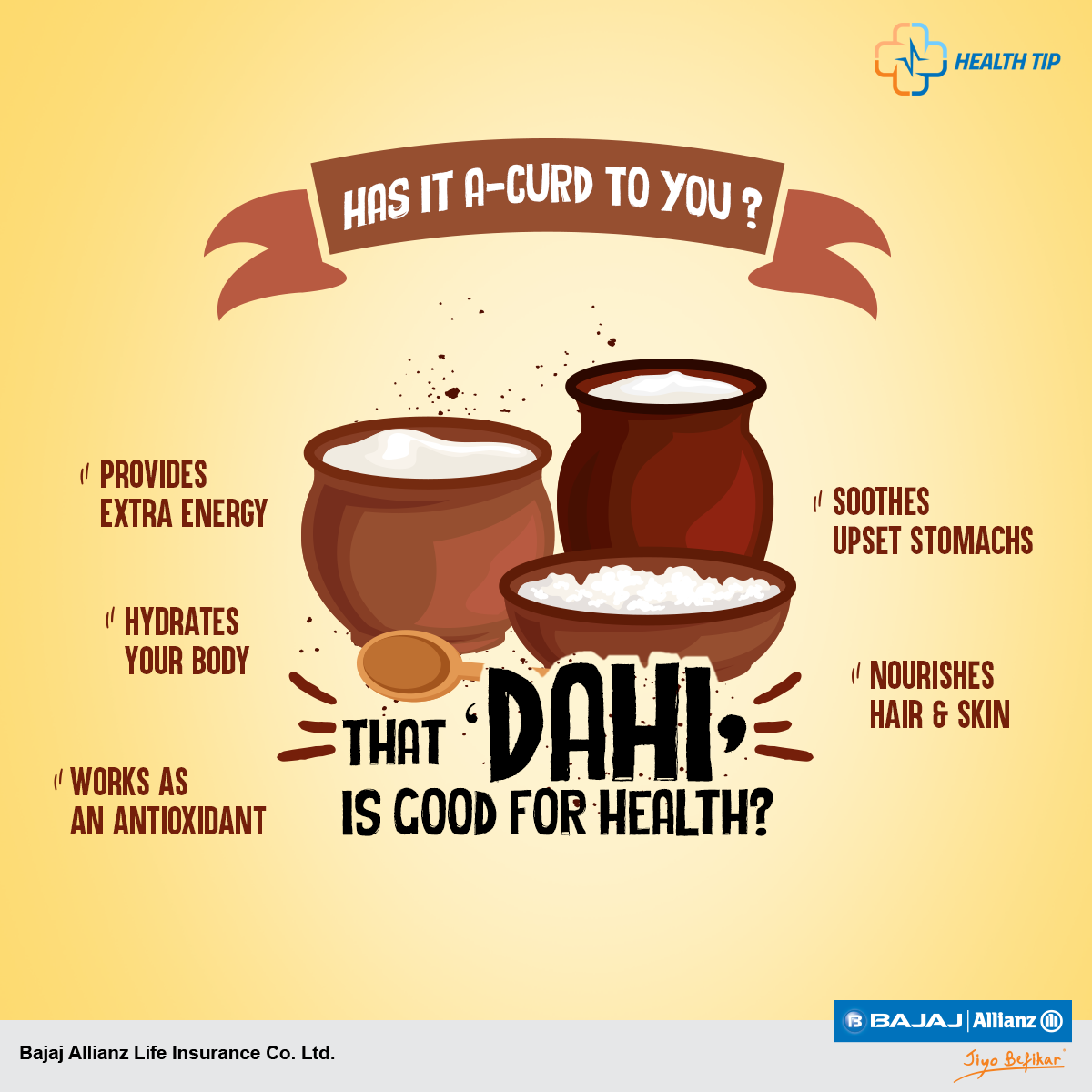 The sun is high. The temperatures are soaring. But why worry? For curd is here! Keep your body healthy during the harsh Indian summers. Read all about its health benefits. #HealthTips