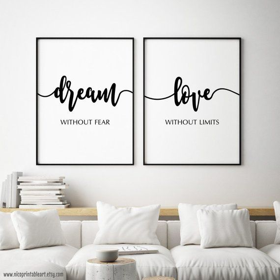 Dream Without Fear Love Without Limits Bedroom Wall Quote