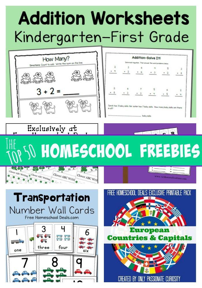 Top 50 HOMESCHOOL FREEBIES of the Past Month! Homeschool