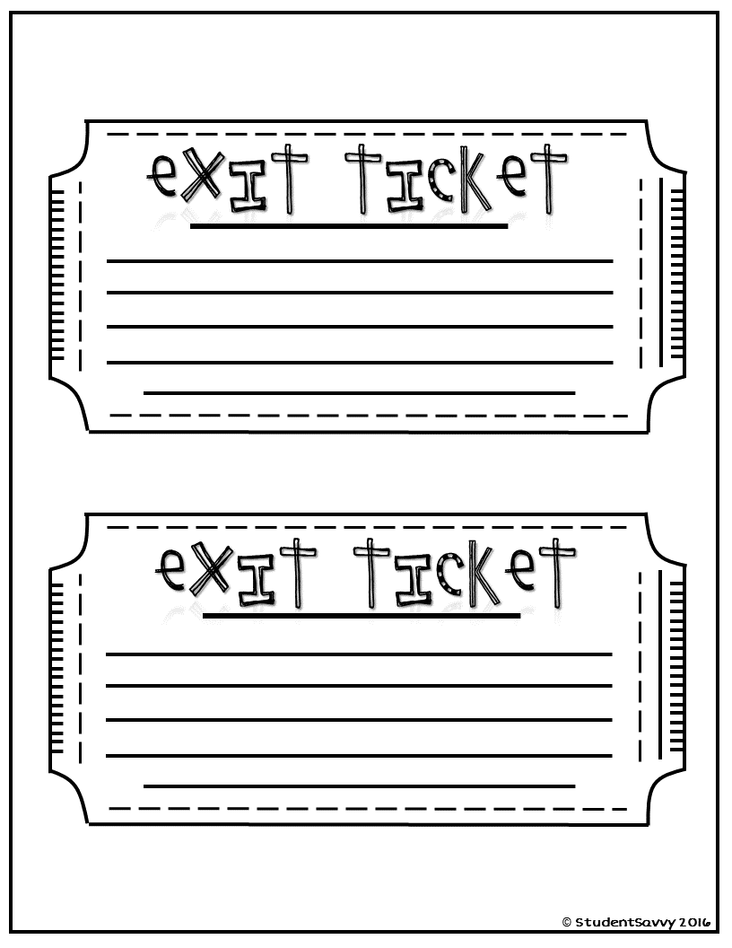 graphic about Exit Tickets Printable named Exit Tickets - Cost-free Exit Tickets Exit tickets, Exit
