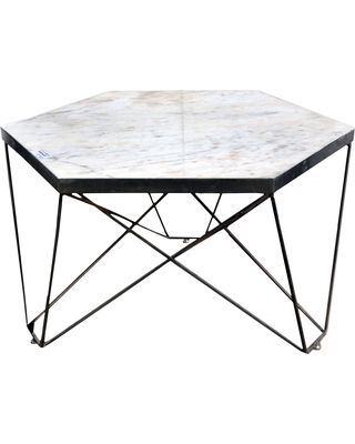 Hexagon Marble Coffee Table 28X28X16 Hexagon Coffee Table Grey