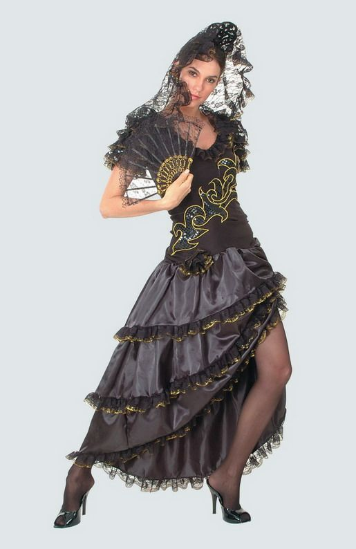 727f118d7 Amazon.com: Adult Premier Senorita Spanish Costume: Clothing ...
