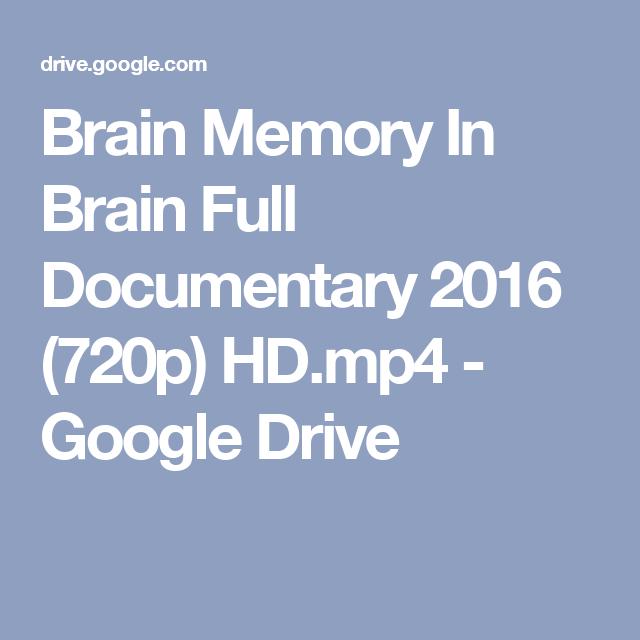 Brain Memory In Brain Full Documentary 2016 (720p) HD mp4