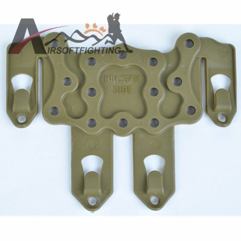 8e4b196855 Tactical Airsoft Gun Holster Platform Hunting STRIKE Molle Speed Clip Belt  Holster Adapter For Any Molle