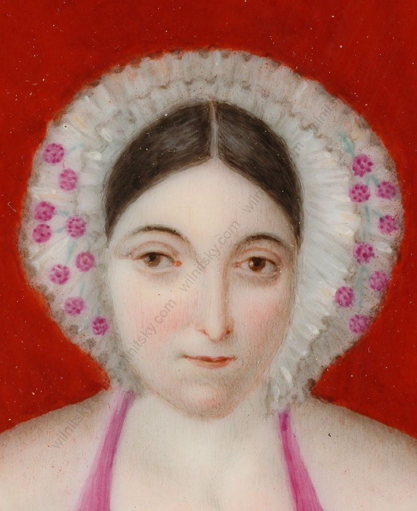 Portrait Of An Educated Lady French Miniature On Porcelain 1830s Ebay Portrait Miniatures Painting