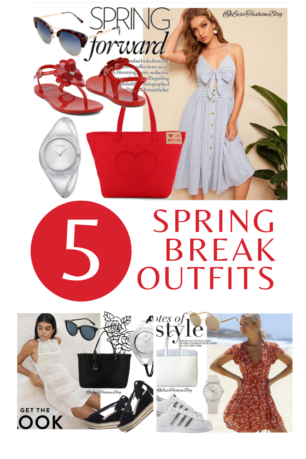 5 Spring Break Outfits & Accessories You Totally Need | Spring Break Outfit Ideas | Red Bag