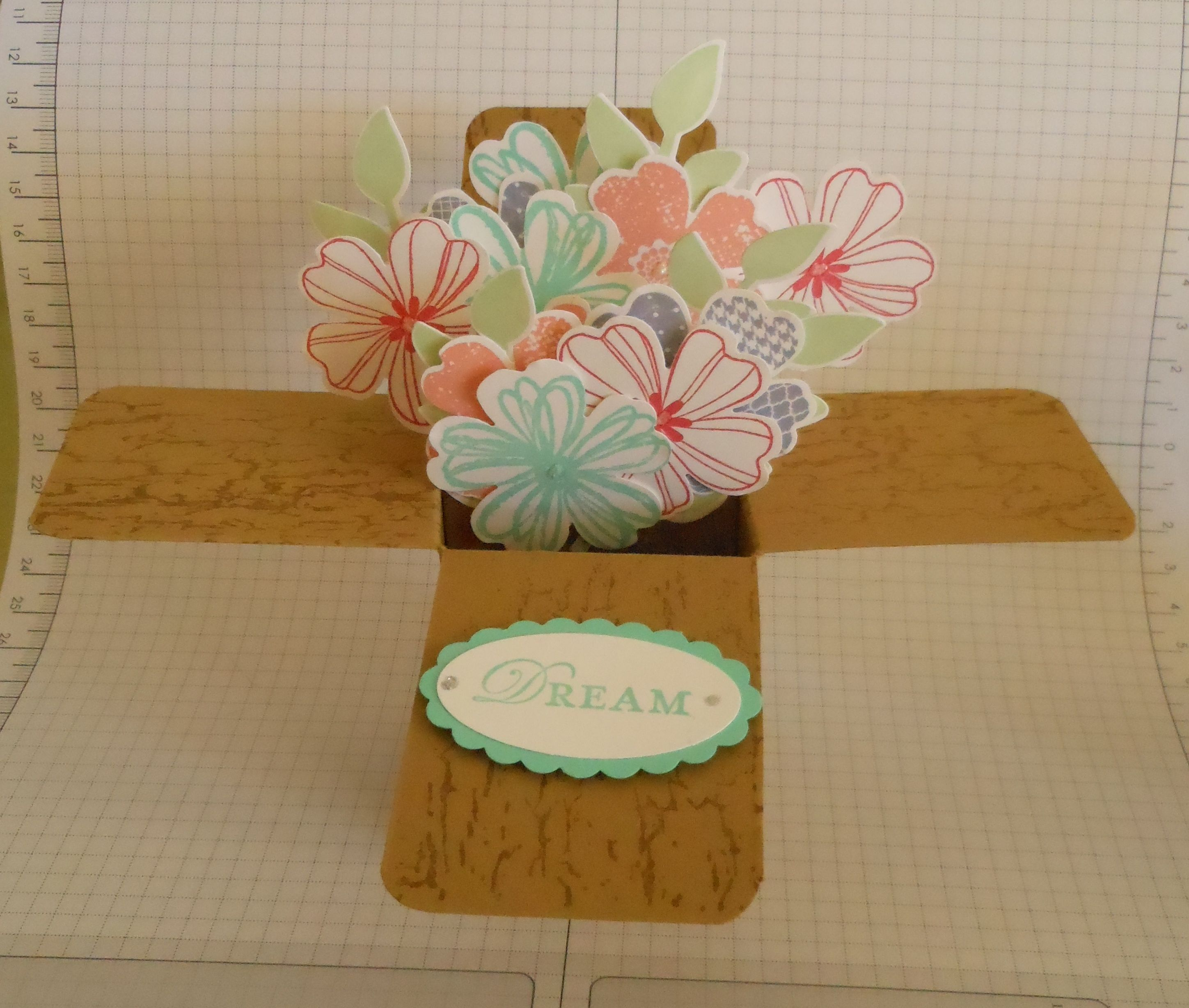 Pop Up Floral Bouquet Using The Flower Shop Stamp Set And Pansy