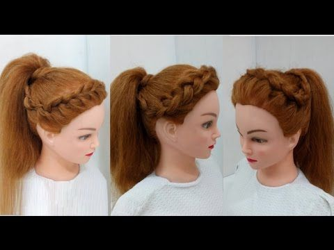 Three Ways To Style A High Ponytail Easy Hairstyles Youtube Hair Styles Ponytail Hairstyles Easy High Ponytail Hairstyles