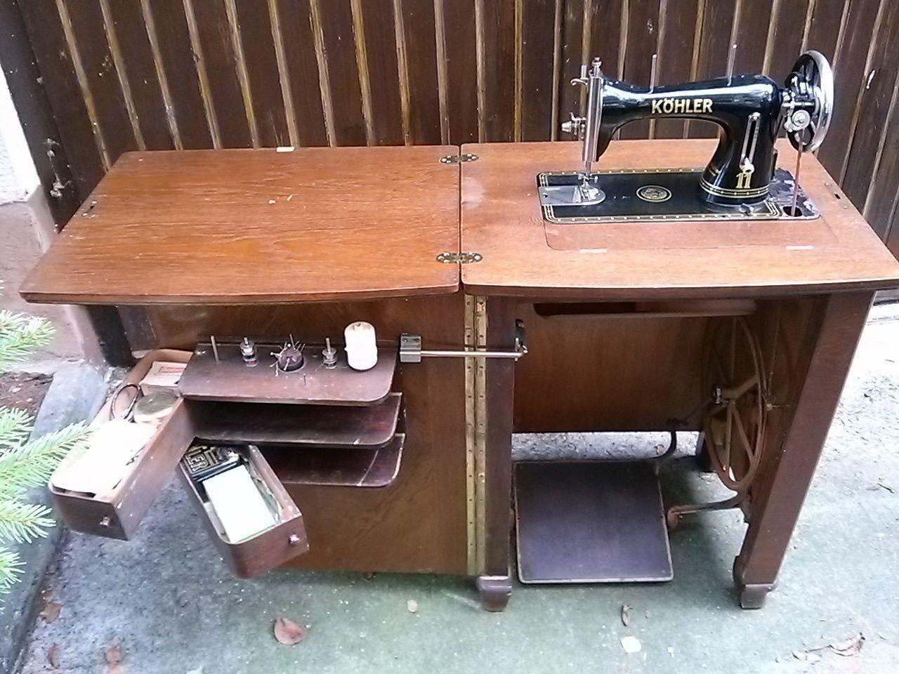 klassiker n hmaschine von k hler antik in in konstanz kohler sewing machine cabinet open. Black Bedroom Furniture Sets. Home Design Ideas