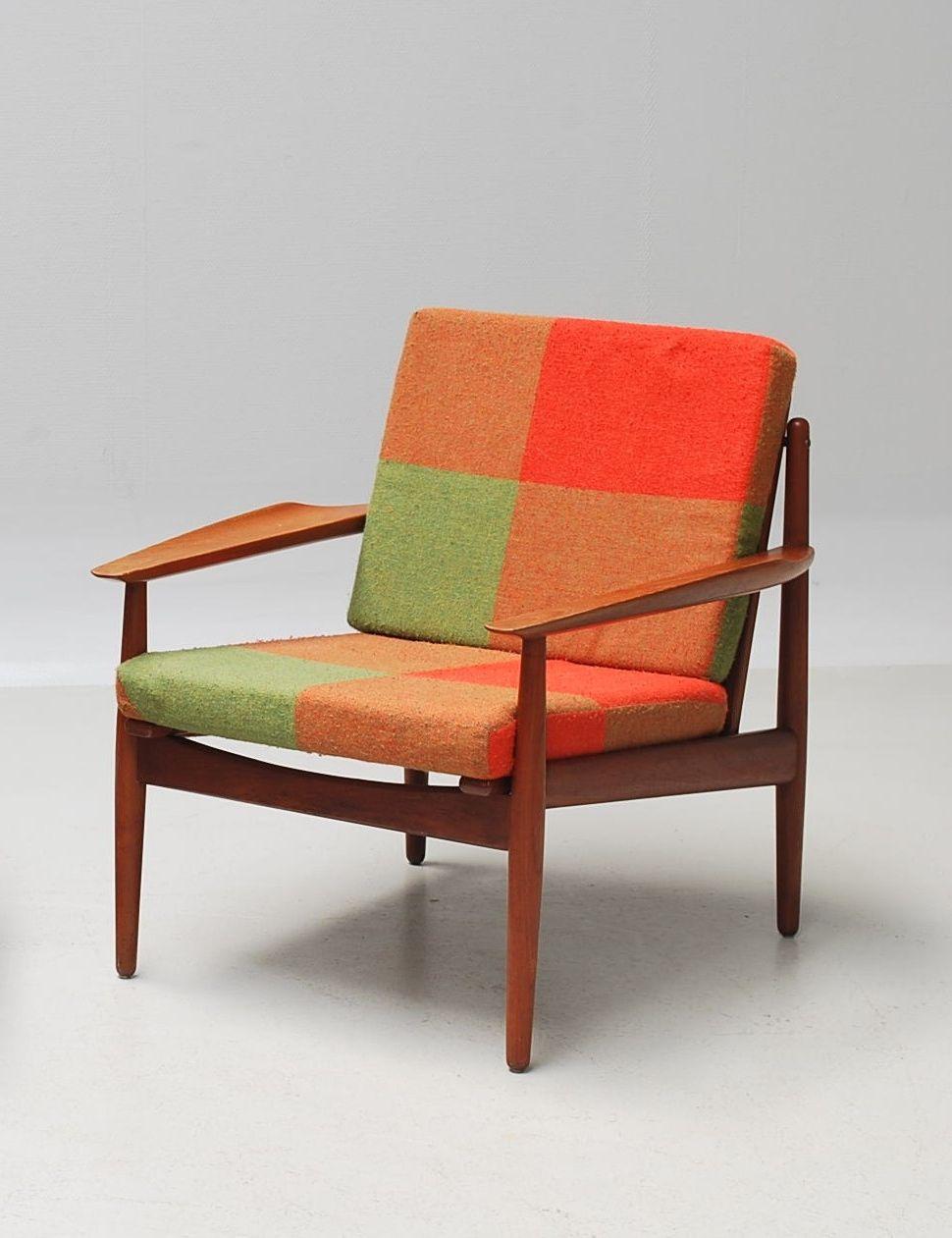 Grete Jalk Teak Lounge Chair For Glostrup Møbelfabrik 1950s