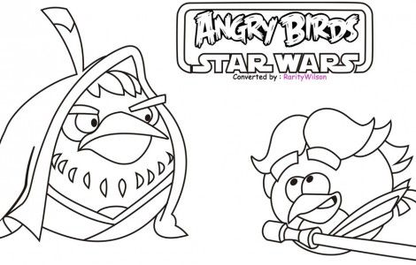 Angry Birds Star Wars Coloring Pages Yoda | Star Wars | Pinterest