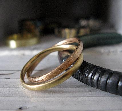 SALE Size 11 Mens Wedding Band Interlocking Mens Wedding Ring Unique