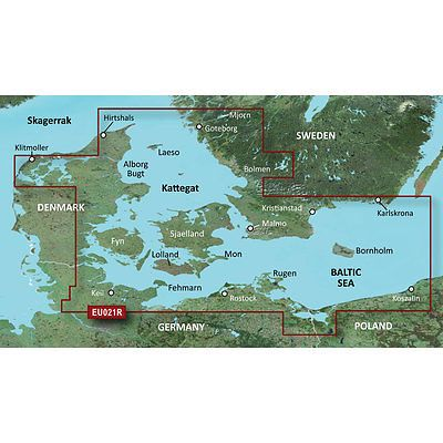GPS Software And Maps Garmin Bluechart G Hxeur Denmark E - Sweden map for garmin