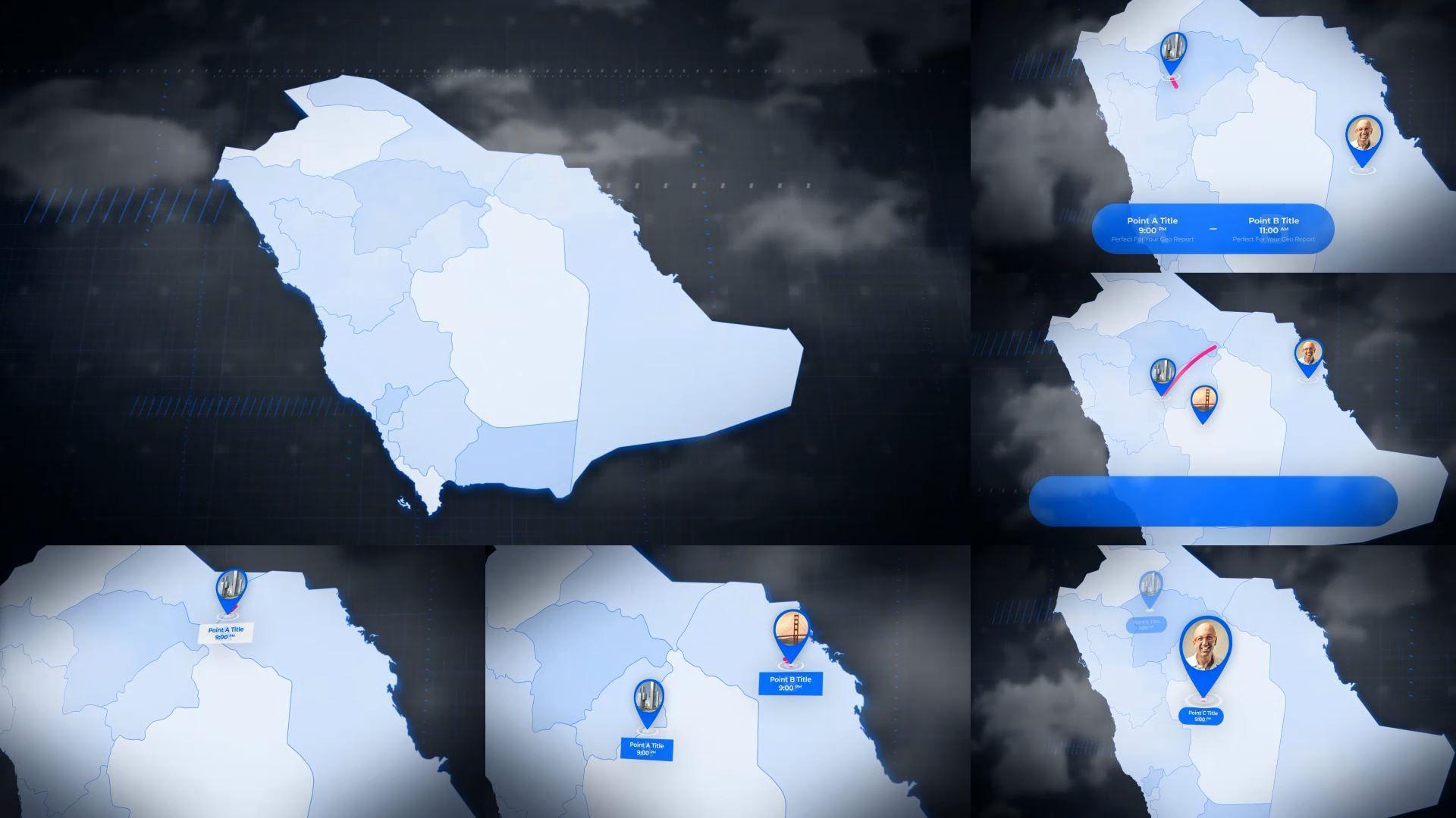 Saudi Arabia Map Kingdom Of Saudi Arabia Map Kit Box Art Icon Set Vector Map