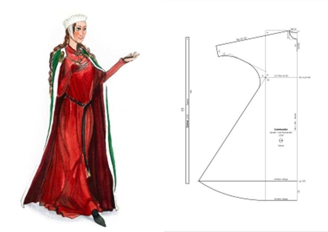 1190 Dame Cotehardie | Sewing | Pinterest | Mittelalter ...