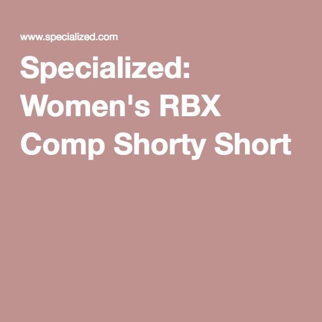 Specialized: Women's RBX Comp Shorty Short