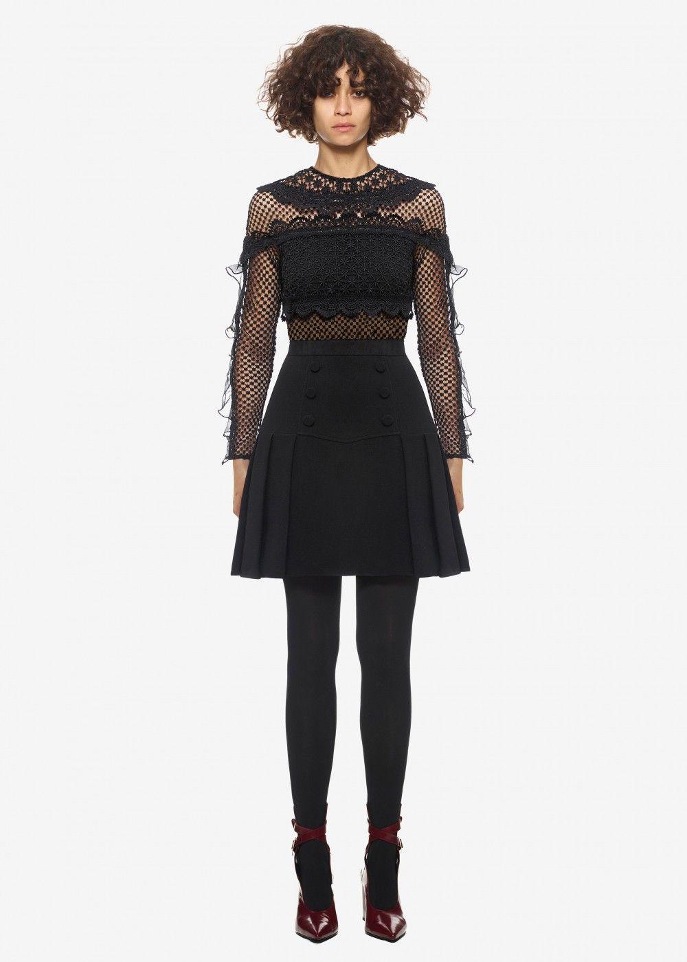 4addd301ce5f self portrait bellis lace trim dress black #women #happynewyear  #newyear2018 #gifts #